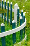 The blove picket fencing. In a garden of beijing Stock Photography