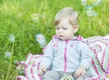 Blow bubbles Stock Image