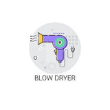 Blow Dryer Beauty Devices Icon Royalty Free Stock Photography