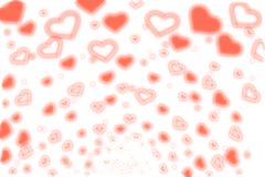 Blow Hearts. Graphic illustrate in White Tone Stock Image