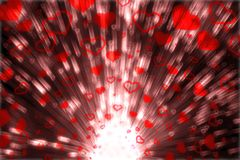 Blow Hearts. Graphic illustrate in Red Tone Stock Photo