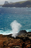 Blow Hole. On West Maui Drive Stock Images