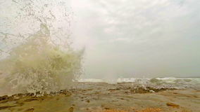 Blow hole. At Al Mughsayl beach near Salalah, Oman stock footage