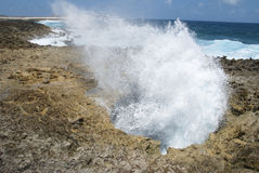 Blow hole Royalty Free Stock Photography