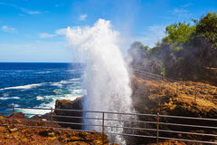 Blow hole Stock Photography