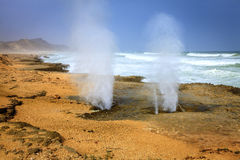 Blow holes Royalty Free Stock Photography