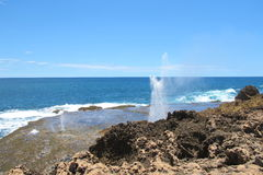 Blow holes at Gnaraloo Station, Western Australia Stock Photos