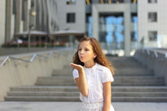 Blow kiss Stock Photography