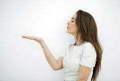 Blow kiss Stock Images