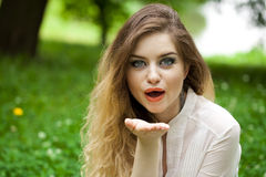 Blow kiss Royalty Free Stock Images