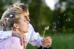 Blow for luck Royalty Free Stock Image