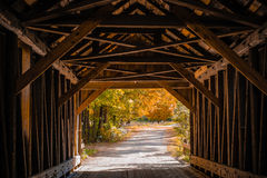 Blow MeDown Covered Bridge Cornish New Hampshire Royalty Free Stock Image