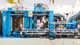 Blow Moulding Machine in factory Stock Image
