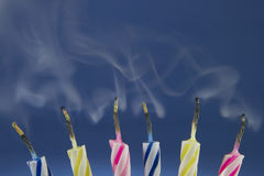 Blow out the birthday candles Royalty Free Stock Photos