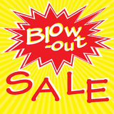 Blow-out sale. Retro poster with sale inscription, illustration royalty free illustration
