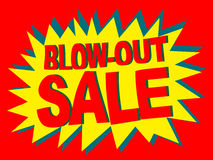 Blow-out Sale (Vector) Stock Images