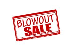Blow out sale. Rubber stamp with text blow out sale inside,  illustration Stock Photography