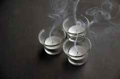 Blow out tea lights stock images
