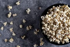 A blow of popcorn stock image