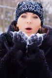 Blow on snow Royalty Free Stock Photo