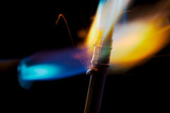 Blow Torch Flame and Copper Pipe Royalty Free Stock Photo