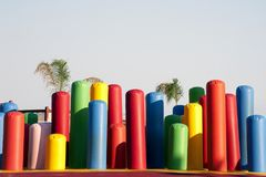 Blow-up playground for kids Stock Photo