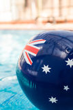 Blow up pool toy with australian flag motif Stock Image