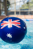 Blow up pool toy with australian flag motif Royalty Free Stock Photography