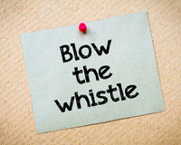 Blow the whistle Stock Photo