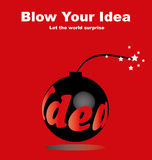 Blow Your Idea Royalty Free Stock Image