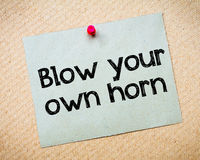 Blow your own horn Stock Photos