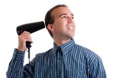 blowdryer mężczyzna Zdjęcie Stock