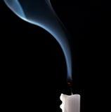 blowed stearinljus ut Royaltyfri Bild