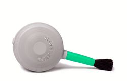 Blower Brush. A lens brush blower isolated on a white Stock Photo