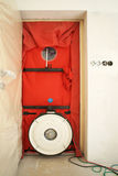 Blower door testing. For passive houses royalty free stock photos