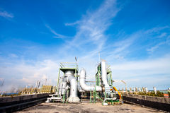 Blower in factory. Blower plant in petrochemical (thailand Stock Image