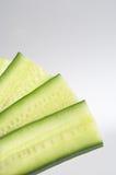 Blower - Faecher. Cucumber slices formed to a blower - Faecher geformt aus Gurkenscheiben Royalty Free Stock Images