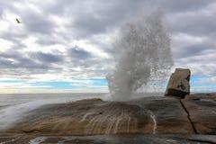 Blowhole σε Bicheno Στοκ εικόνα με δικαίωμα ελεύθερης χρήσης