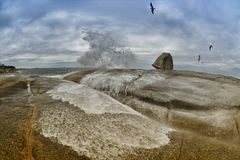 Blowhole της Τασμανίας Bicheno Στοκ φωτογραφία με δικαίωμα ελεύθερης χρήσης