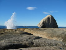 Blowhole at Bicheno Royalty Free Stock Image