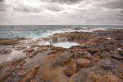 Blowhole, Bufadero de la Garita in Telde, Gran Canaria, Canary island, Spain. Royalty Free Stock Photography