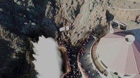 Blowhole los angeles Bufadora, sławny przyciąganie Ensenada zbiory
