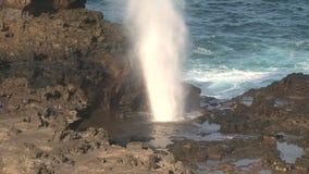 Blowhole Maui,Hawaii stock video