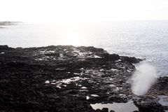 Blowhole na Kauai Hawaje Obrazy Royalty Free
