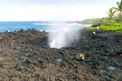 Blowhole at Nakalele Point Royalty Free Stock Photos