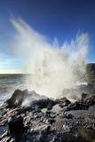 Blowhole on Reunion Island Stock Image