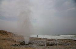 Blowholes Mughsayl Στοκ Φωτογραφία
