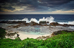 Blowholes Tonga Stock Photo