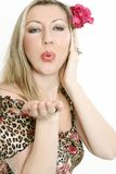 Blowing air kisses Stock Photo