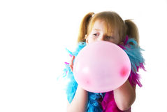 Blowing the balloon Royalty Free Stock Photography